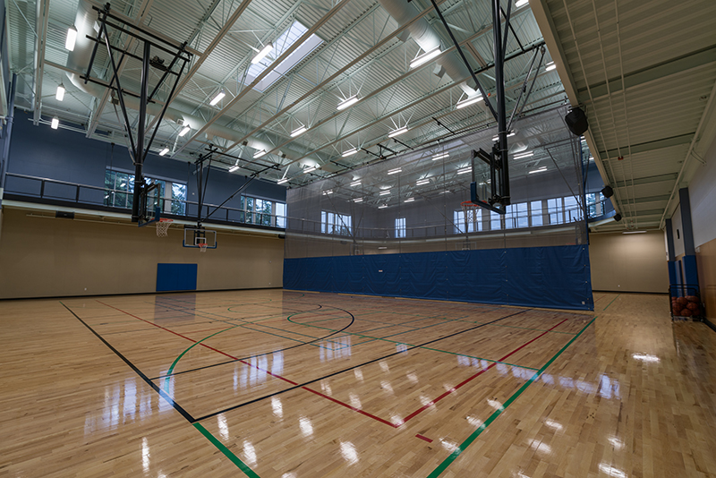 Large, full-size Gymnasium with Divider Net