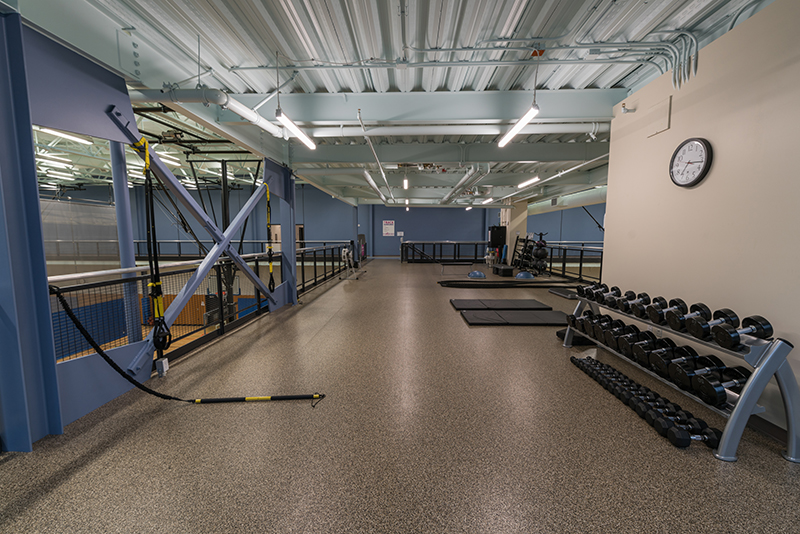 Upstairs Fitness Loft Above Gymnasiums
