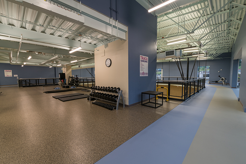 Upstairs Fitness Loft Above Gymnasiums and surrounded by Walk/Jog Track