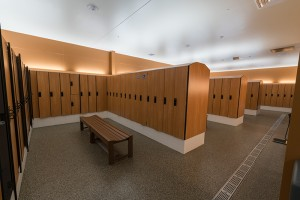 Locker Rooms with Full-size lockers available for daily use