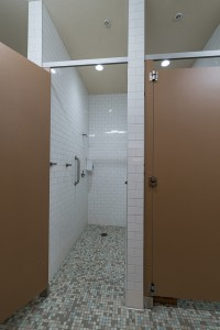 Private Showers located in Men's and Women's Locker Rooms