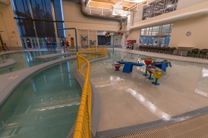 Activity Pool with Lazy River, Splash Features and Two-Story Waterslide