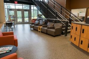 Sitting Area outside of Aquatic Center