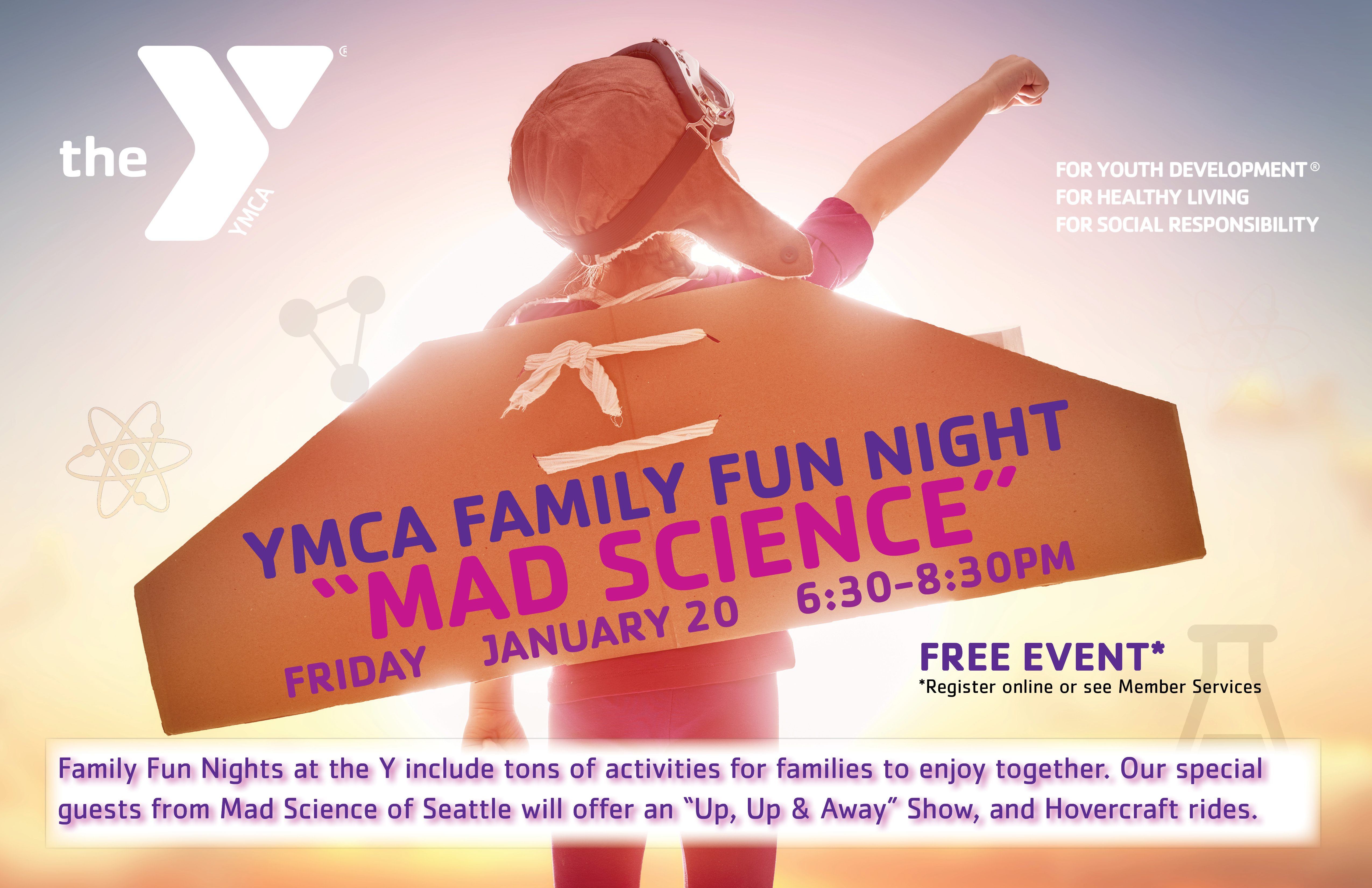 Join Us For Family Fun Night On Friday January 20th From 630 830pm Mad Science Of Seattle Will As Our Special Guests And Run Activities