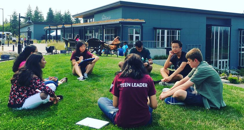 Cropped teen leader photo