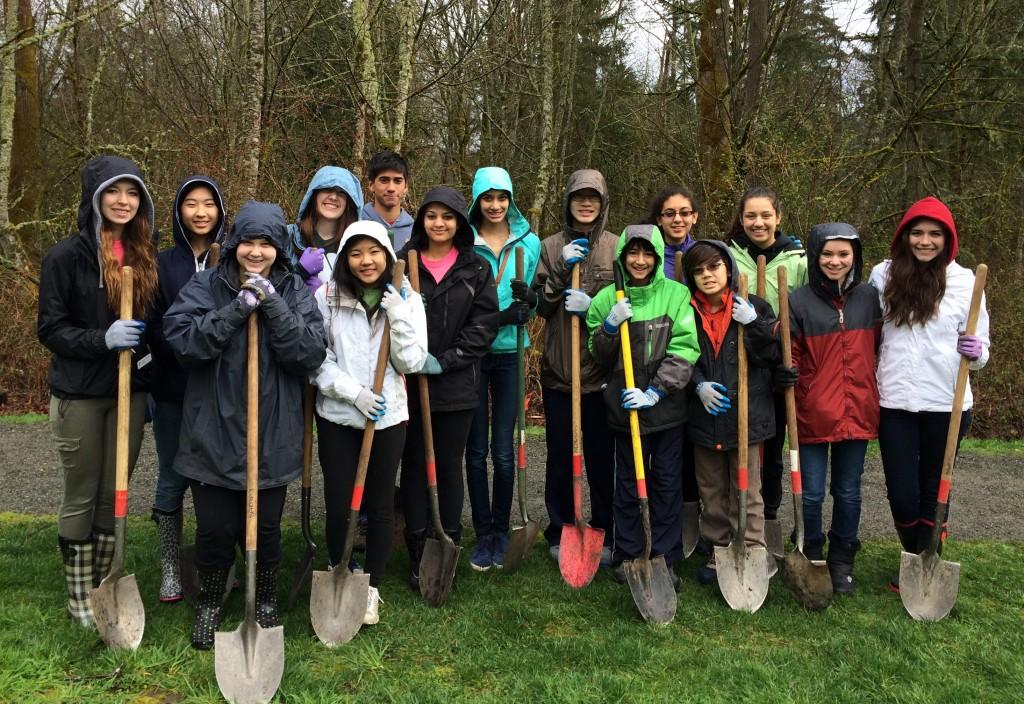 Teens Digging